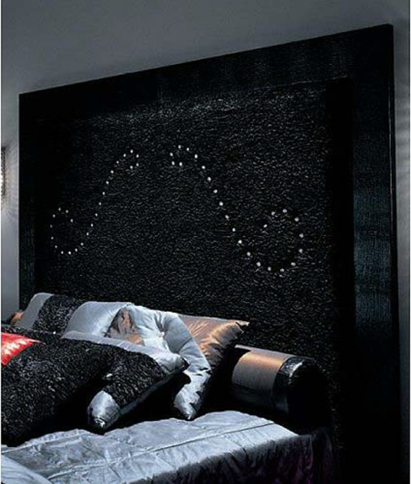 Headboards black beds dramatically pattern soft