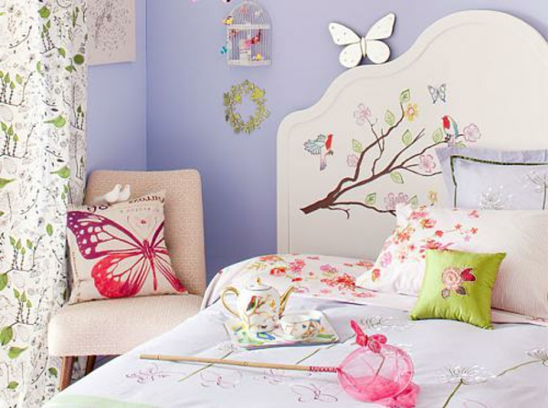 Headboards for beds spring fresh pattern flowers