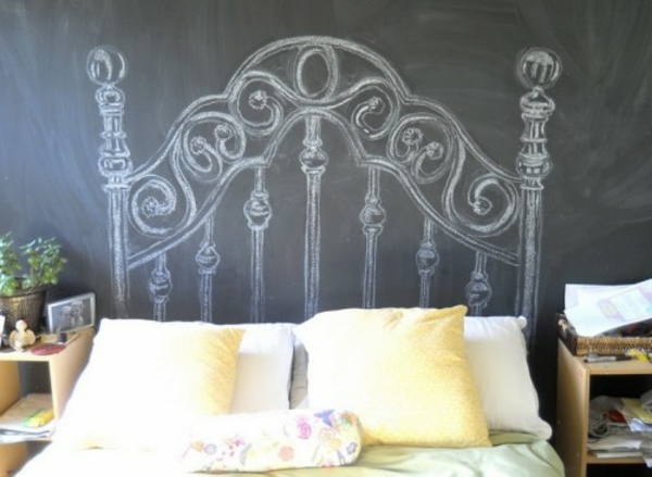 Headboards bed wall colors blackboard classic