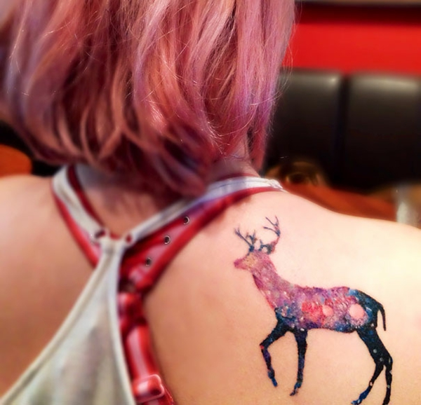 Space Tattoo Original & amp; Motives deer