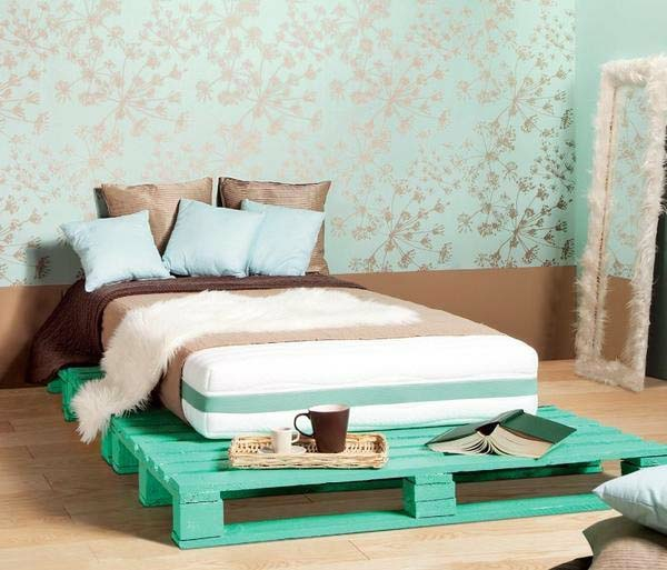 bed bedroom uropaletten painted lacquer bedstead