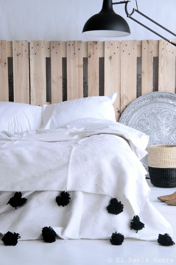 Furniture made of europallets bed headboard