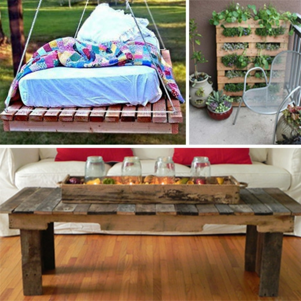 Furniture made of europallets coffee table