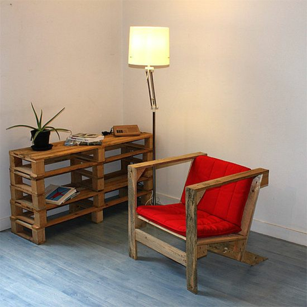 Furniture made of europallets chair chair