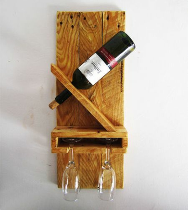 wall furniture Euro pallets wine stand