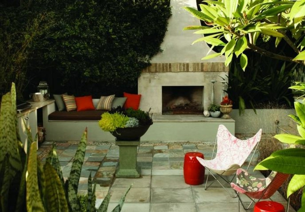 throw pillows colorful garden ideas landscape trends sitting fire pit