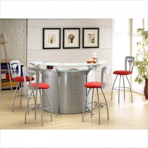 Modern home bar design bar stool worktop glass