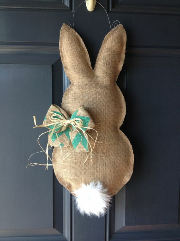 Easter decoration Easter wreath itself make Easter bunny sew