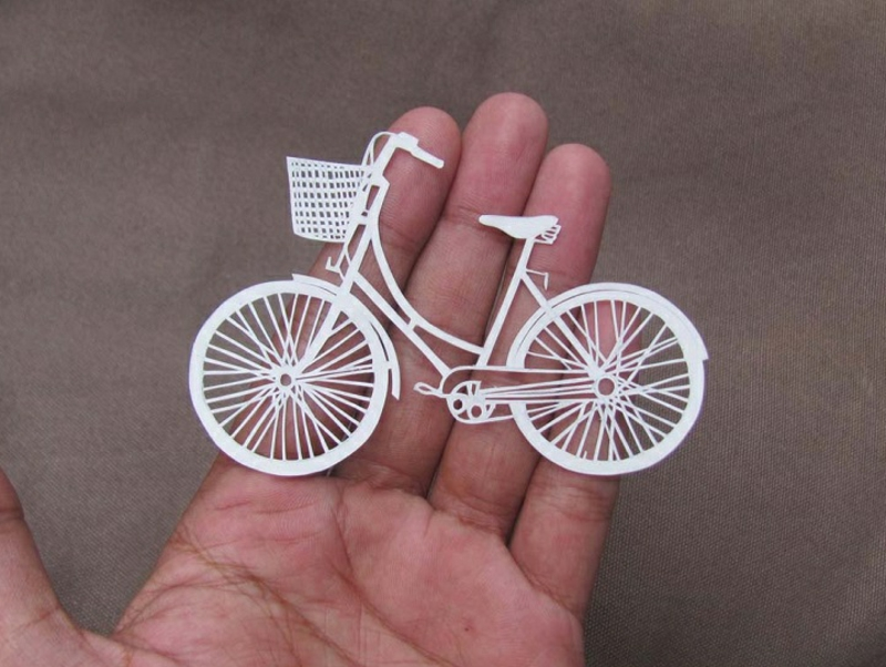 Parth Kothekar art paper bike