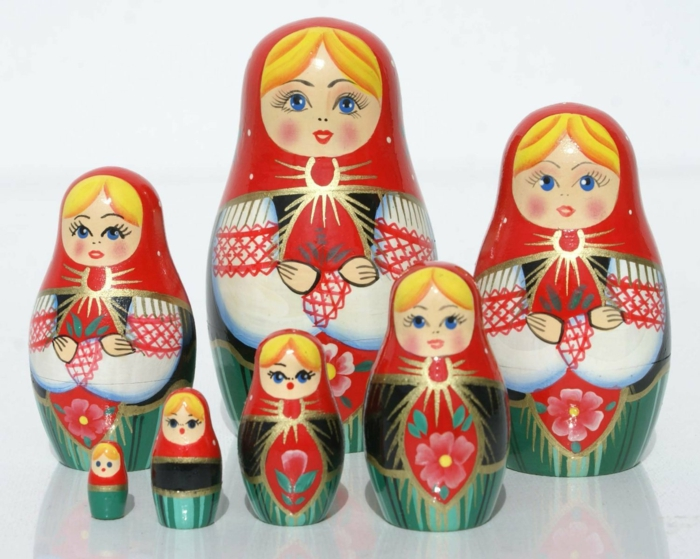 Bonecas russas Russian matryoshka family women