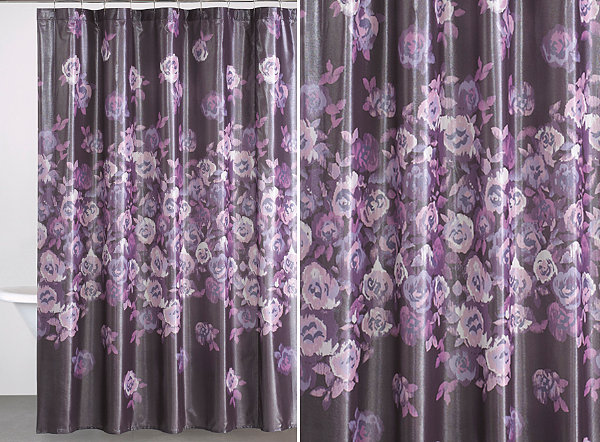 Beautiful floral patterns and trends purple curtains