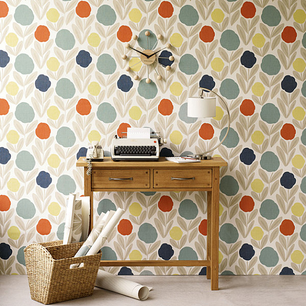 Beautiful floral design and trends wall paper decoration
