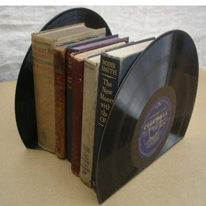 Records craft ideas bookends diy projects