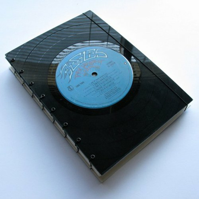 Vinyl records bookbinding make diy projects