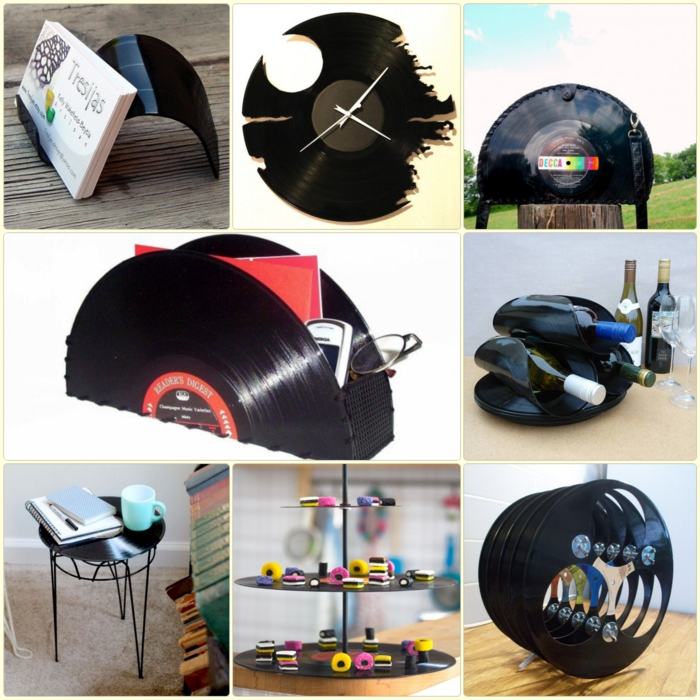 Vinyl records, handicrafts ideas and DIY projects