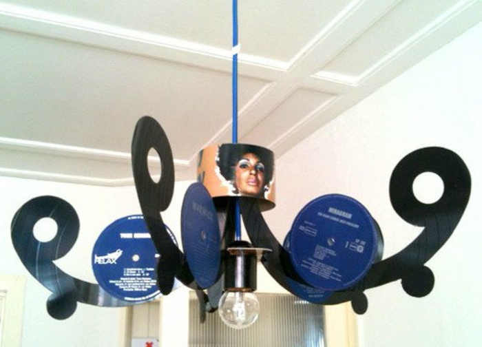 Records craft ideas diy projects chandelier
