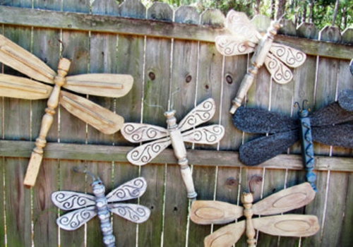 decor decorativ de gradina DIY gradina de design dragonfly