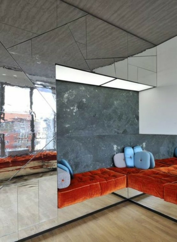 Mirror wall shapes triangles buy pads sofas