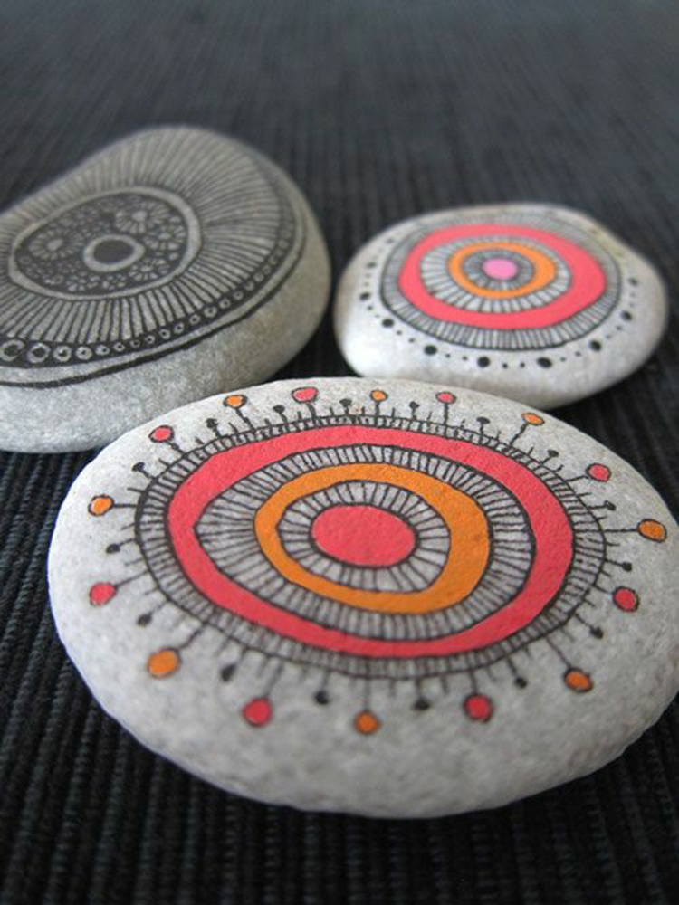 Paint stones painted mandala make stones themselves