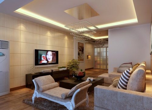 ceiling paneling in the living room modern classic