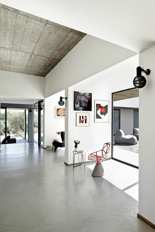 modern original industrial minimalist ceiling design in the living room
