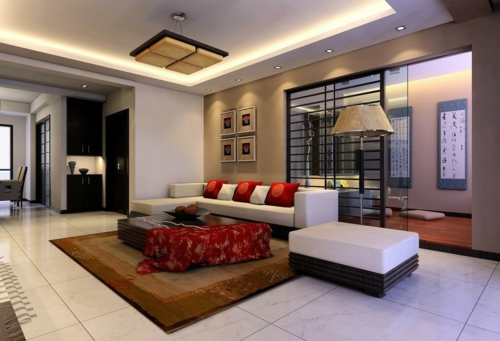 residential landscape in the living room modern chic