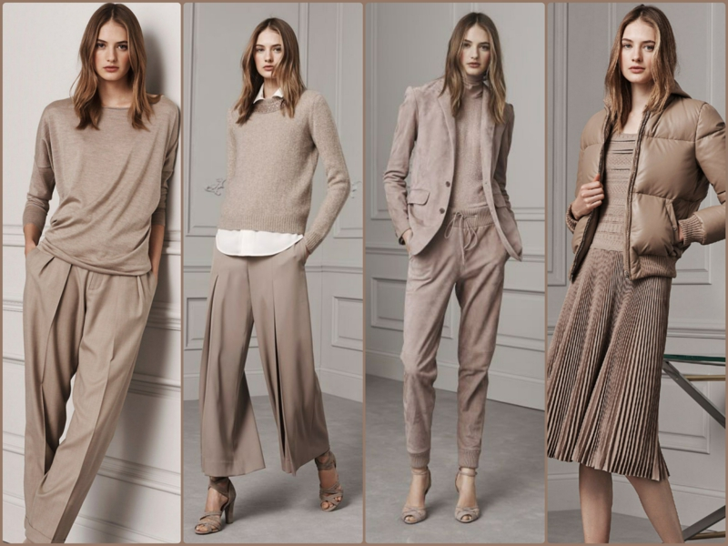 Trendy colors Beige current fashion trends Ralph Lauren 2016 beige dresses