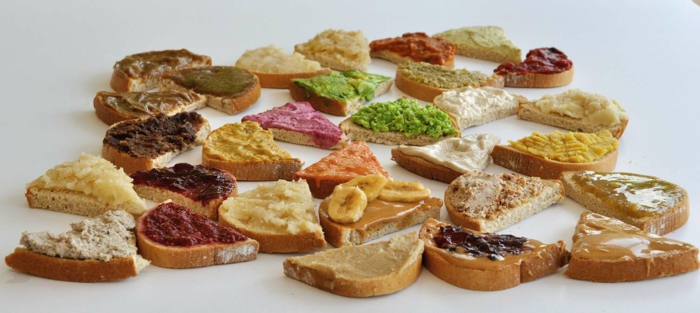 Vegan spreads variety