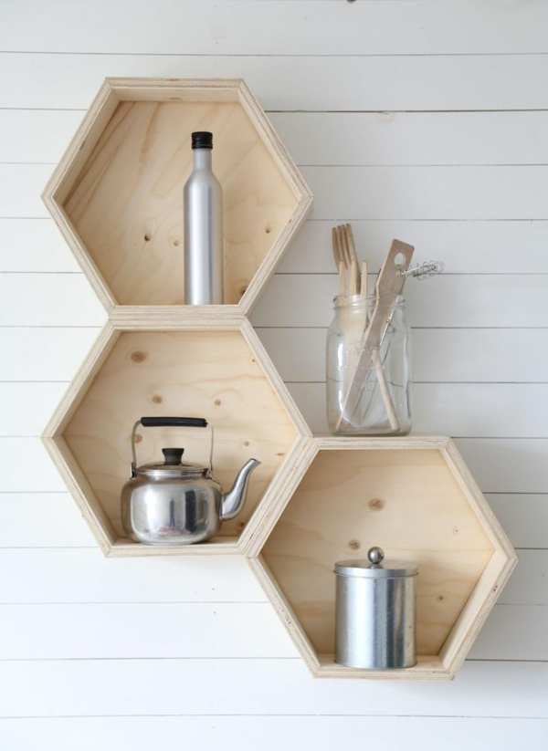 Wall decoration wooden original wall shelf kitchen shelf