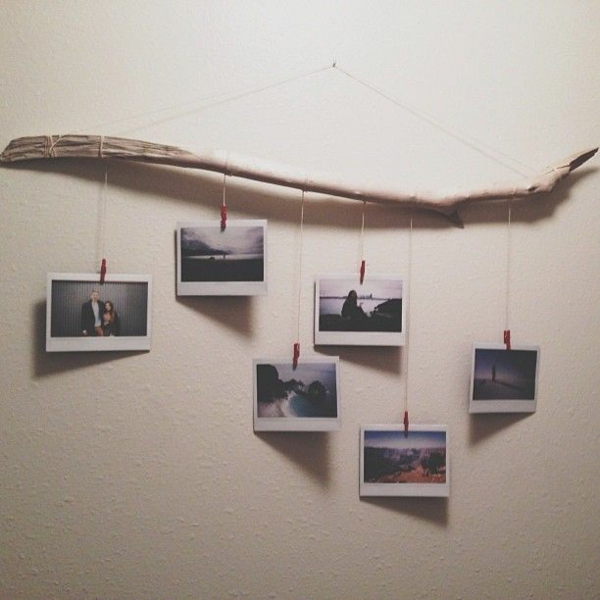 Wooden wall decoration. Wall decoration ideas with driftwood