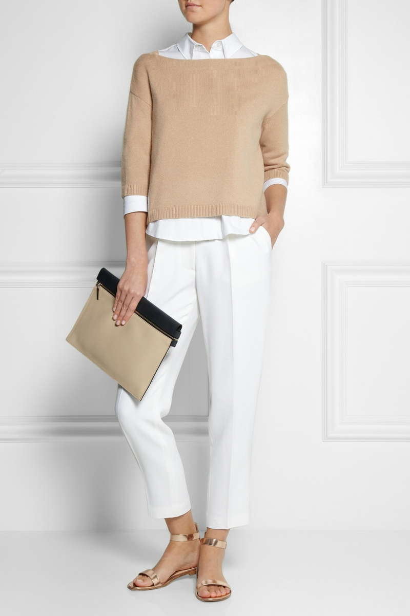 current fashion trends 2016 color trends beige knit sweater
