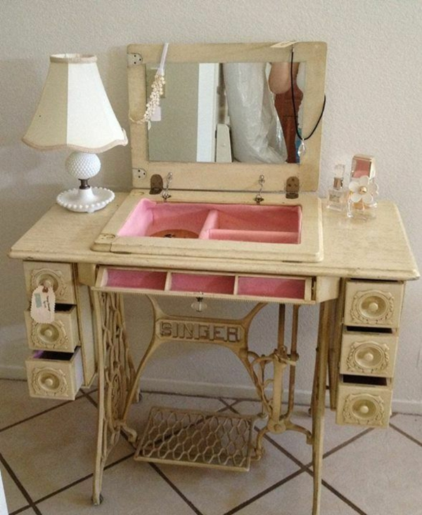 old furniture reshaping sewing machine example