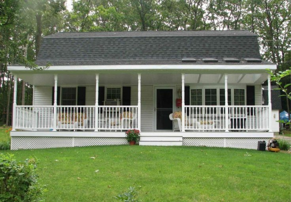 American wooden houses with porch build porch