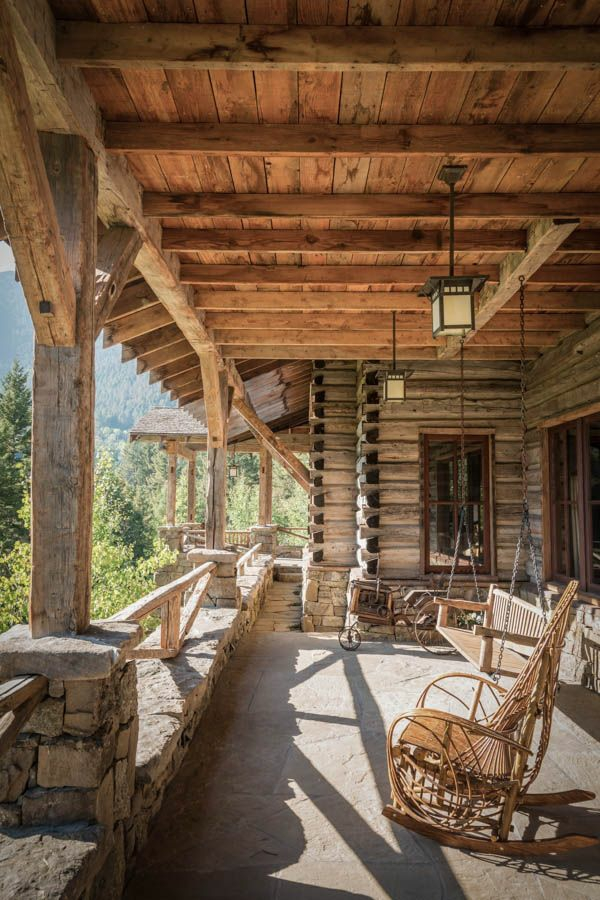 american wooden house country house with porch porch build mountain hut