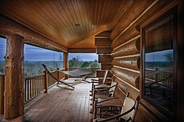 american wooden house with porch wood veranda build yourself