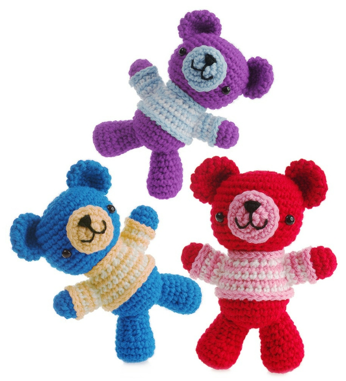 Amigurumi crochet beautiful decoys teddies