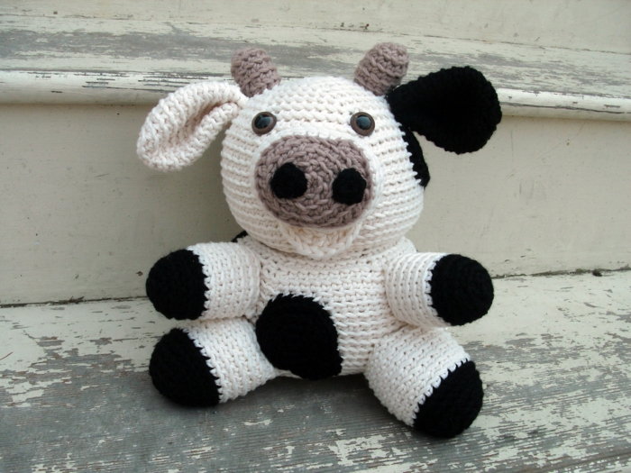 amigurumi crochet beautiful cow tinker