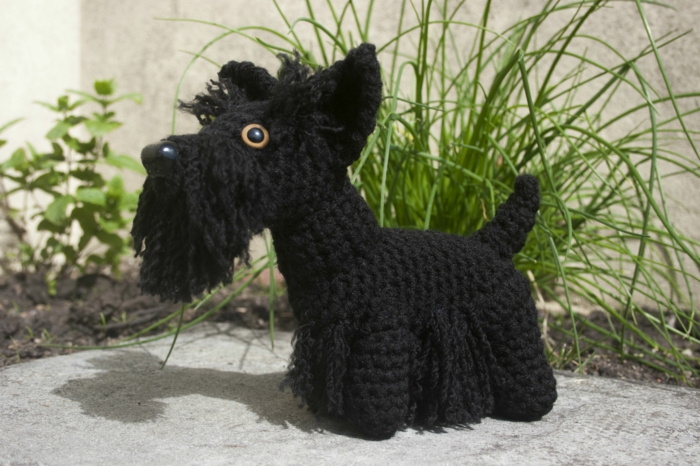 amigurumi crochet black dog scottish terrier diy ideas beautiful deco ideas