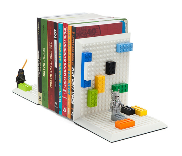 bookends lego game figures