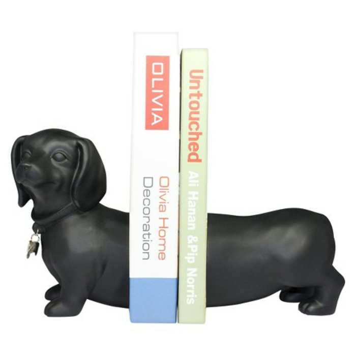 bookhelf bookends black dakel