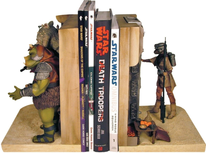 estante de livro bookends star wars jabba palace