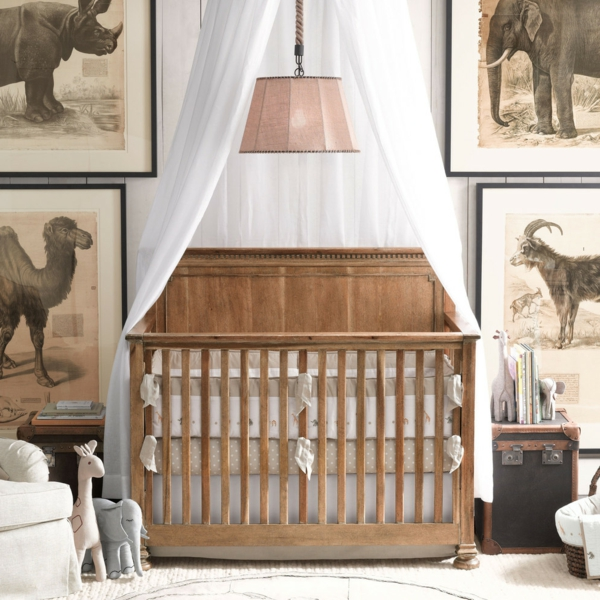 baby bed sky nursery decorating ideas