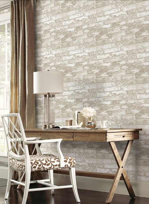 stone look wallpaper office room home office antique furniture wall decoration ideas