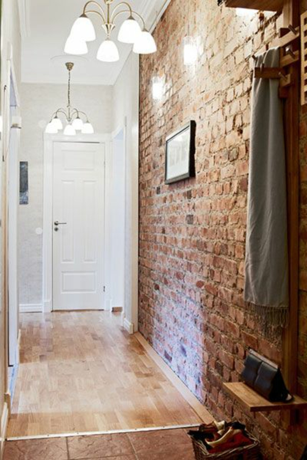 brick wallpaper hallway home decor country style wall decoration ideas