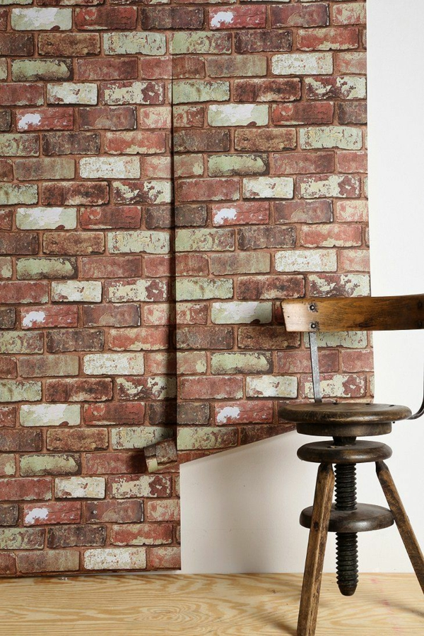 brick wallpaper country style wall decoration ideas brick wallpaper