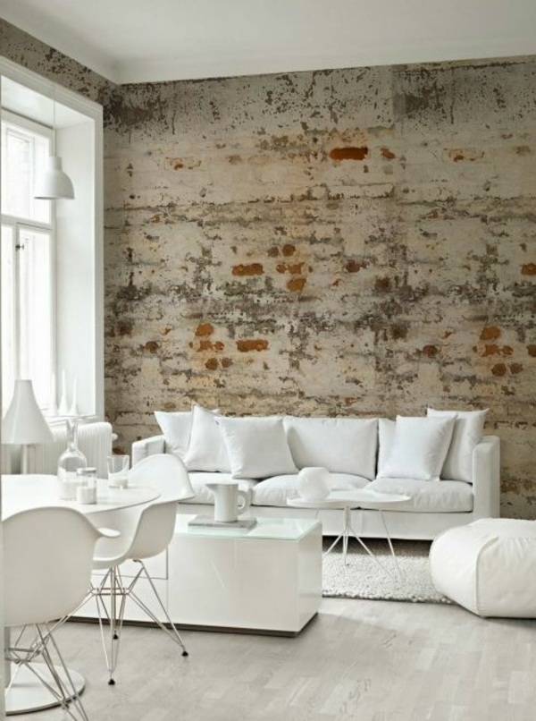 brick wallpaper living room modern decorating wall decoration ideas