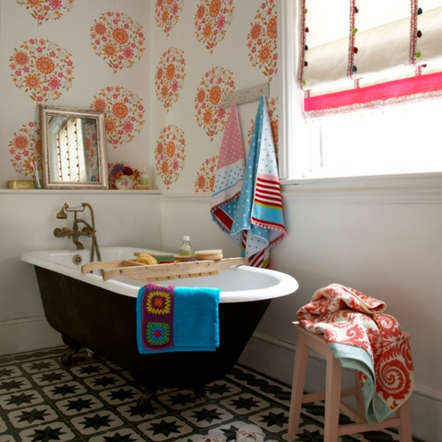 bathroom interior pink accent bathturned