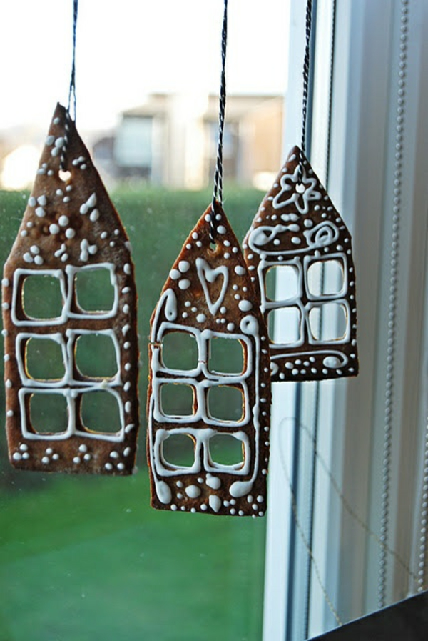 craft ideas for windows Christmas decorations pastry