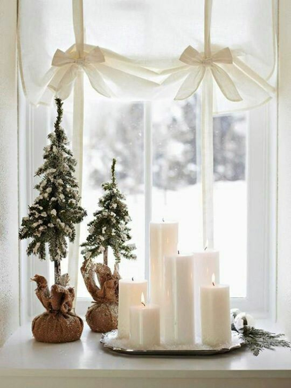 craft ideas for windows Christmas decorations candles