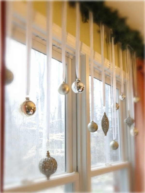 crafting ideas window christmas decoration ball